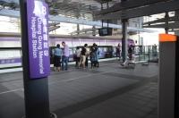 長庚醫院駅で普通車は直達車待ち合わせ170404