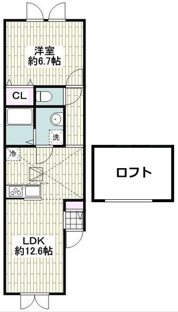 ■物件番号P4857 海まで徒歩3分のペット可輸入住宅!1LDK+ロフト!パークでサーフィン!8.1万円!