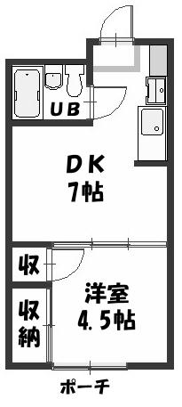 ■物件番号4871 海まで4分!鉄筋コンクリートマンション!1DKタイプ!激安4.1万円!敷・礼ゼロゼロ!り