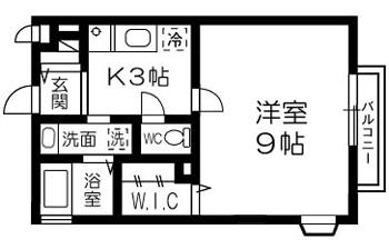 ■物件番号4873 海近!広々30平米の1K+ウォークインクローゼット入荷!2階カド!6.3万円!