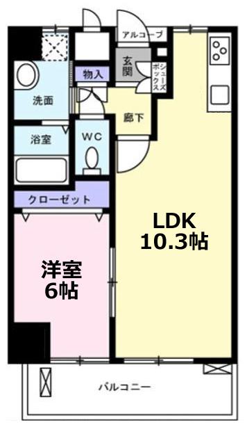 ■物件番号4878 駅3分!2014年築の築浅マンション!オートロック完備!1LDK!10万円!り