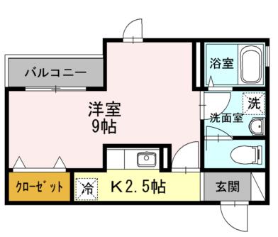 ■物件番号4895 駅5分!駅近!オートロック&アルソック完備!1Kマンション!2階カド!7.4帖!