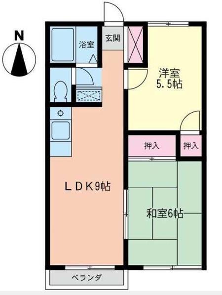 ■物件番号4913 激安2LDK入荷!P1台付7万円!2階!海側!ラチエン通り至近!日当り良好!