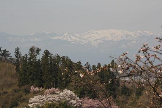 山頂からの吾妻連峰