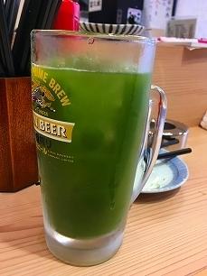 170307晩杯屋@緑茶割り