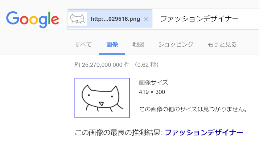 Googleで画像を検索 - ファッションデザイナー