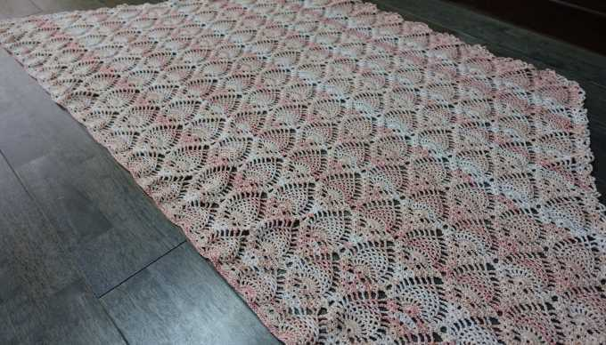 パイナップル編みのストール