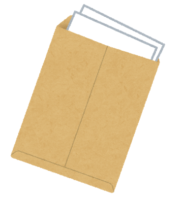 書類、封筒、報告