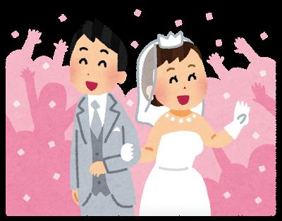 結婚式、ウェディング、祝福