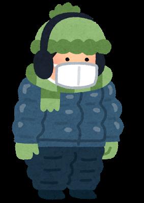 冬、厚着、着ぶくれ、重ね着