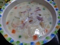 朝食クラムチャウダー (1)
