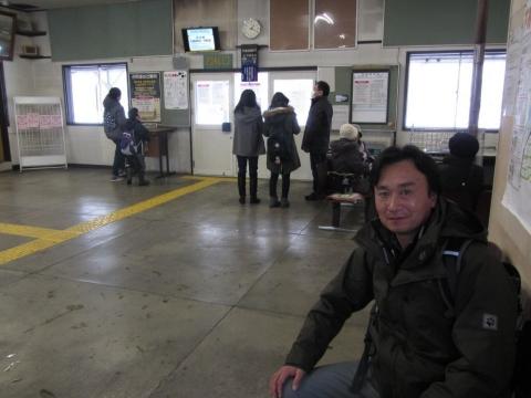 芦別駅にて