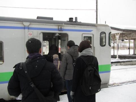 芦別駅構内