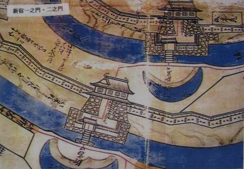 新宿一之門・二之門絵図