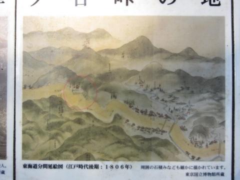 東海道分間延絵図 地蔵堂