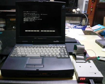 PC-9821Nr15/S10 + TRI-007 + GOTEK SFR1M44-U100K改<br />