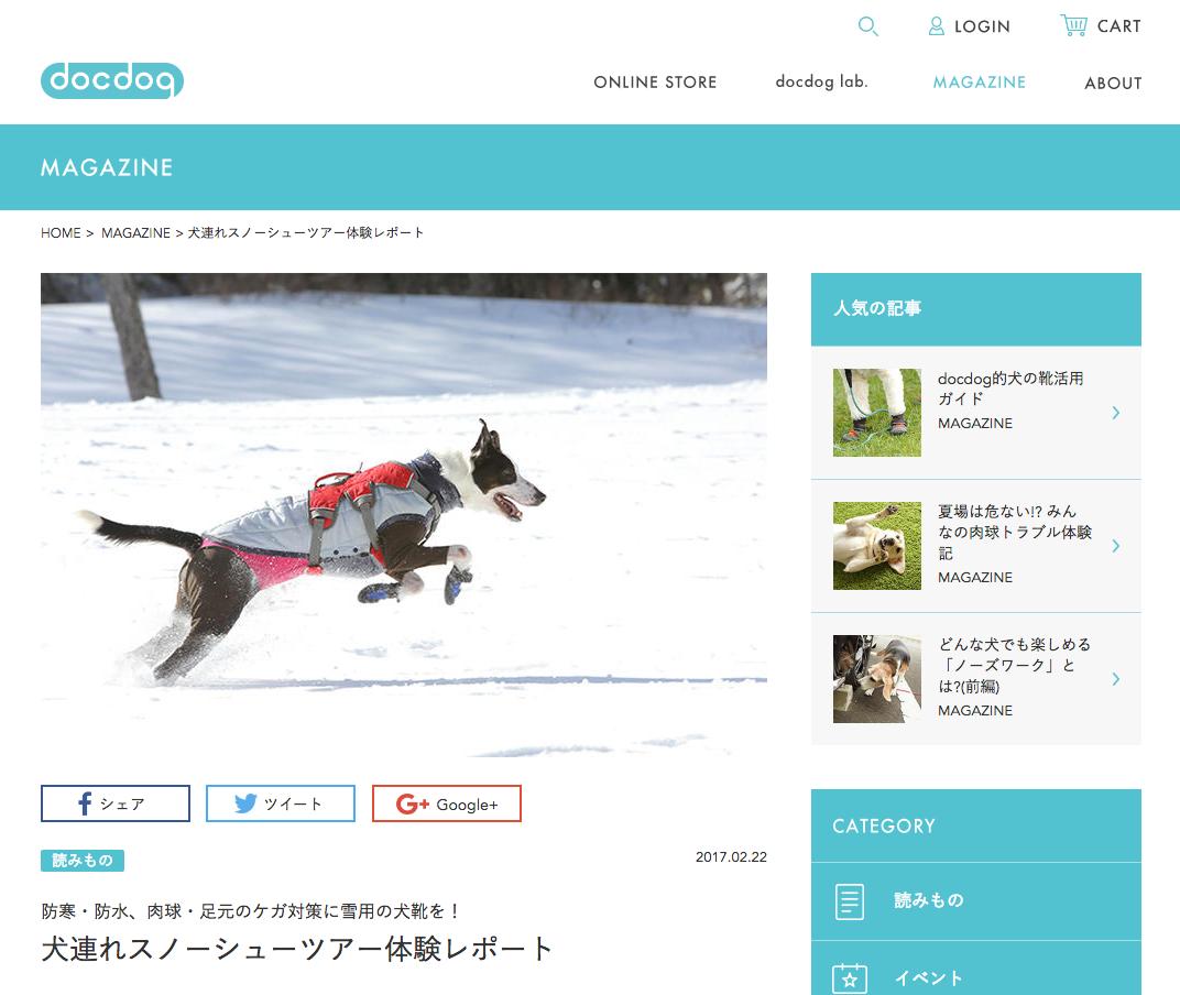 犬連れスノーシューツアー体験レポート