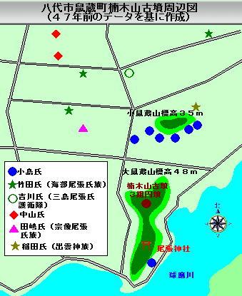 129話楠木山古墳周辺図