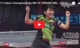 平野美宇VS朱雨玲(準決勝/長時間)アジア選手権2017