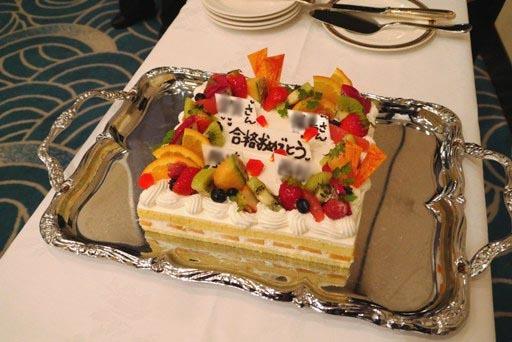 祝賀会ケーキ P1090505-a