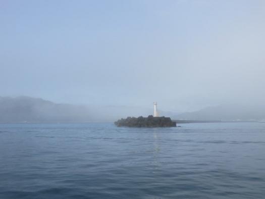 早朝は濃霧!