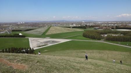 モエレ山からの眺め~プレイマウンテン方向