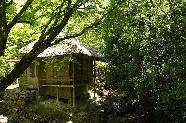 津田永忠宅跡の先にある茶室『黄葉亭』の佇まい