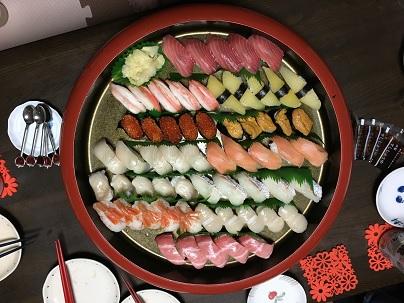晩餐の寿司