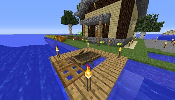 家の前の船着き場、600.342