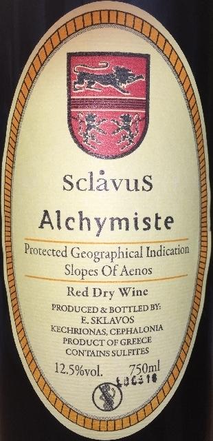 Sclavus Alchymiste Red 2015
