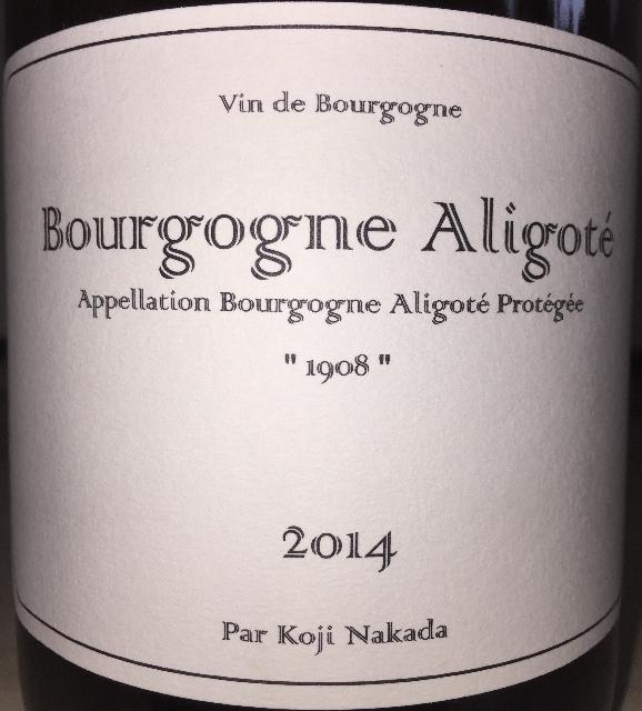 Bourgogne Aligote Koji Nakata 2014