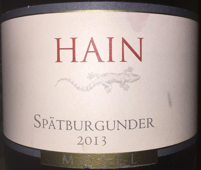 Hain Spatburgunder 2013 part1