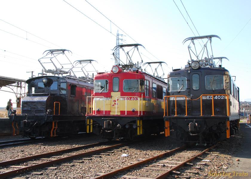 左からED501、ED403、ED402