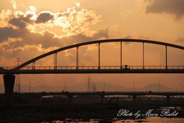 水管橋 加茂川 愛媛県西条市