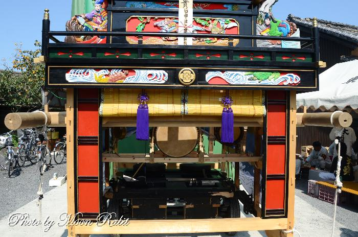 東大頭屋台(だんじり) 袖障子 貴船神社祭り