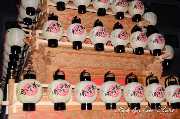 加茂町だんじり(屋台) 祭り提灯