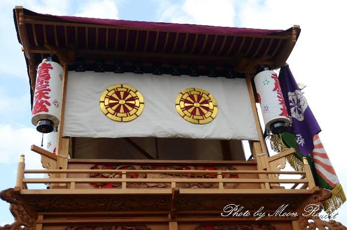 祭り提灯 吉原三本松屋台(だんじり)