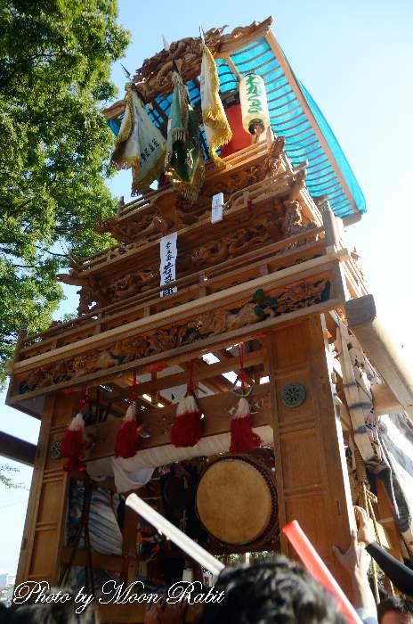 若草町屋台(だんじり) ご殿前 西条祭り