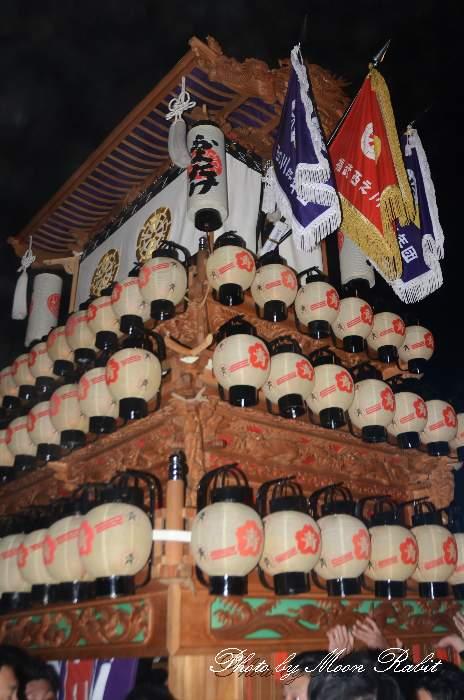 祭り提灯 西の川原だんじり(屋台)