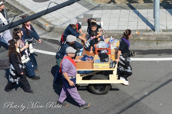松之巷屋台(だんじり) 台車