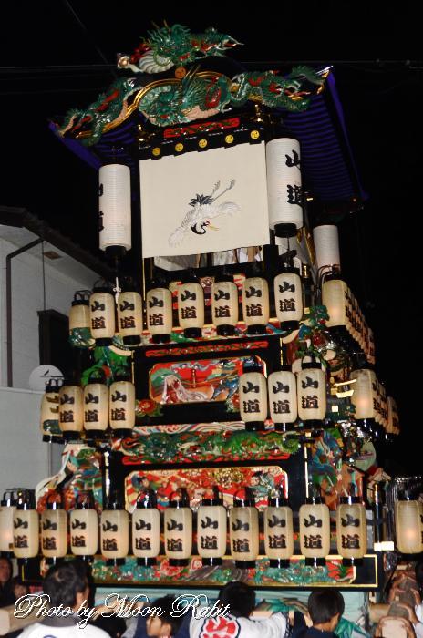 山道だんじり(屋台) 祭り提灯