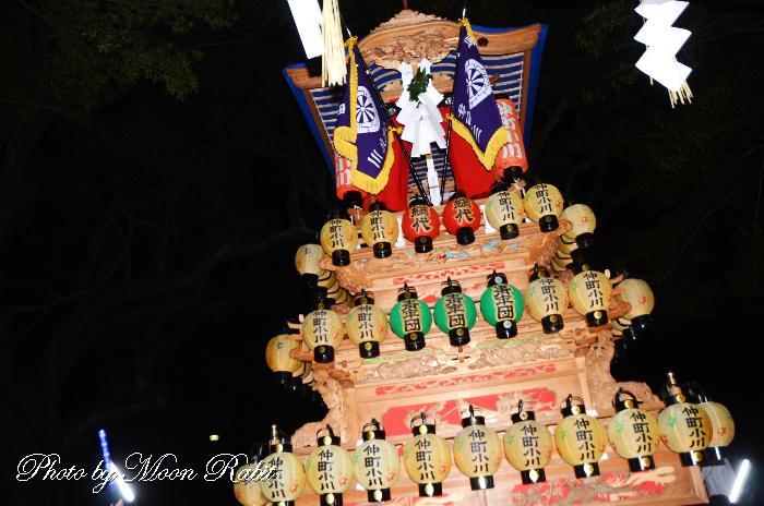 祭り提灯 仲町小川屋台(だんじり)