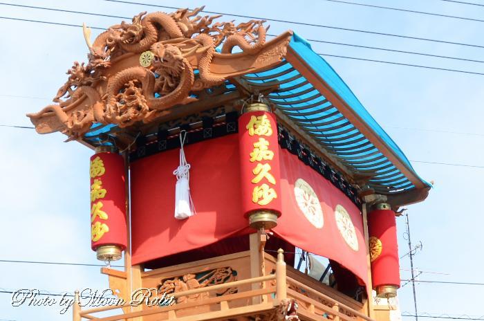 若草町だんじり(屋台) 祭り提灯 西条祭り 伊曽乃神社祭礼 愛媛県西条市