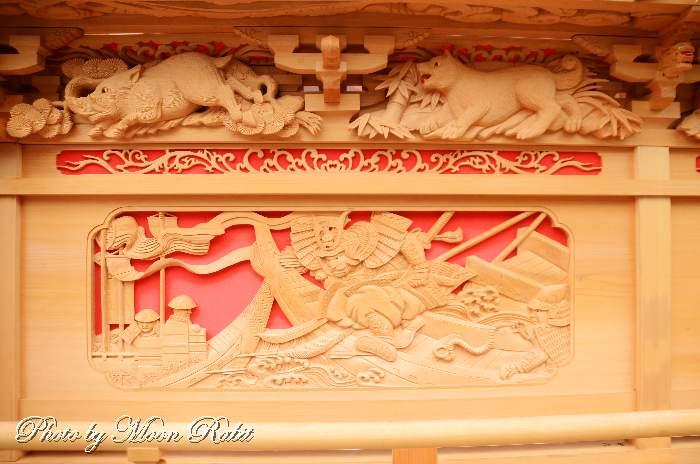 枡合(ますあい)・天井板 西新町屋台(だんじり)