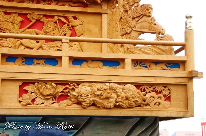 西町屋台(だんじり) 袖障子 西条祭り 伊曽乃神社祭礼 愛媛県西条市