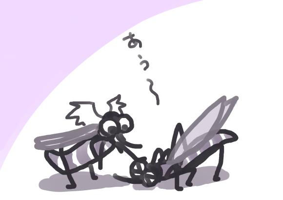 蚊と蚊の潰し合いに見えて、なんと罪深く平和なゲームかと