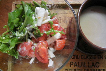 blog Brunch, Tomato, Arrugula & Nagaimo Salad_DSCN3082-10.2.16.jpg