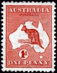 オーストラリア・カンガルー(1913年・1ペニー)