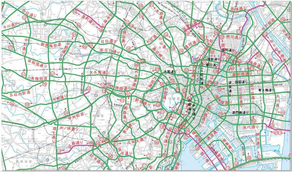 東京都心道路網