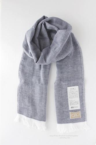 s-今治で織ったタオルマフラー 紺